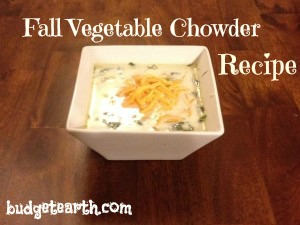 fall vegetable chowder recipe