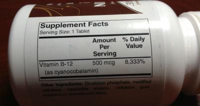 vitamin b12 back