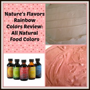 Nature's Flavors Rainbow Colors Review: All Natural Food Colors