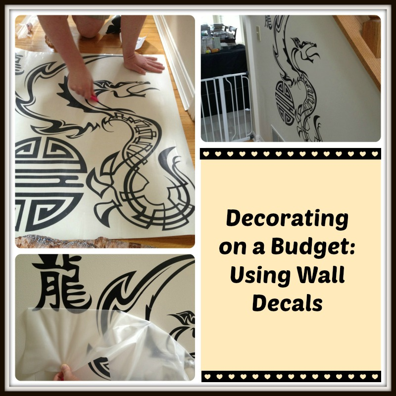 Struggling to find the perfect decor for a tricky wall? See how wall decals can be the answer in my entry way DIY project!