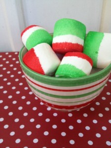 Holiday Tie Dye Marshmallows