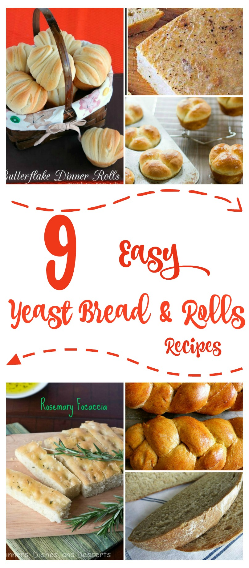 Are you considering learning how to make your own bread? Here are 9 easy yeast bread & rolls recipes that are perfect for beginners!