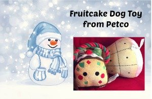 fruitcake dog toy