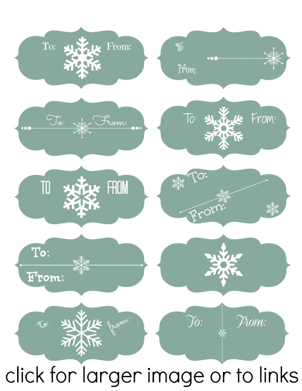 Blue Snowflake Labels