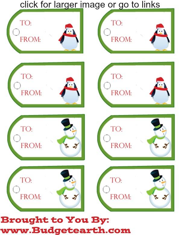 Free printable christmas gift tags budget earth gift tag 2 negle Choice Image