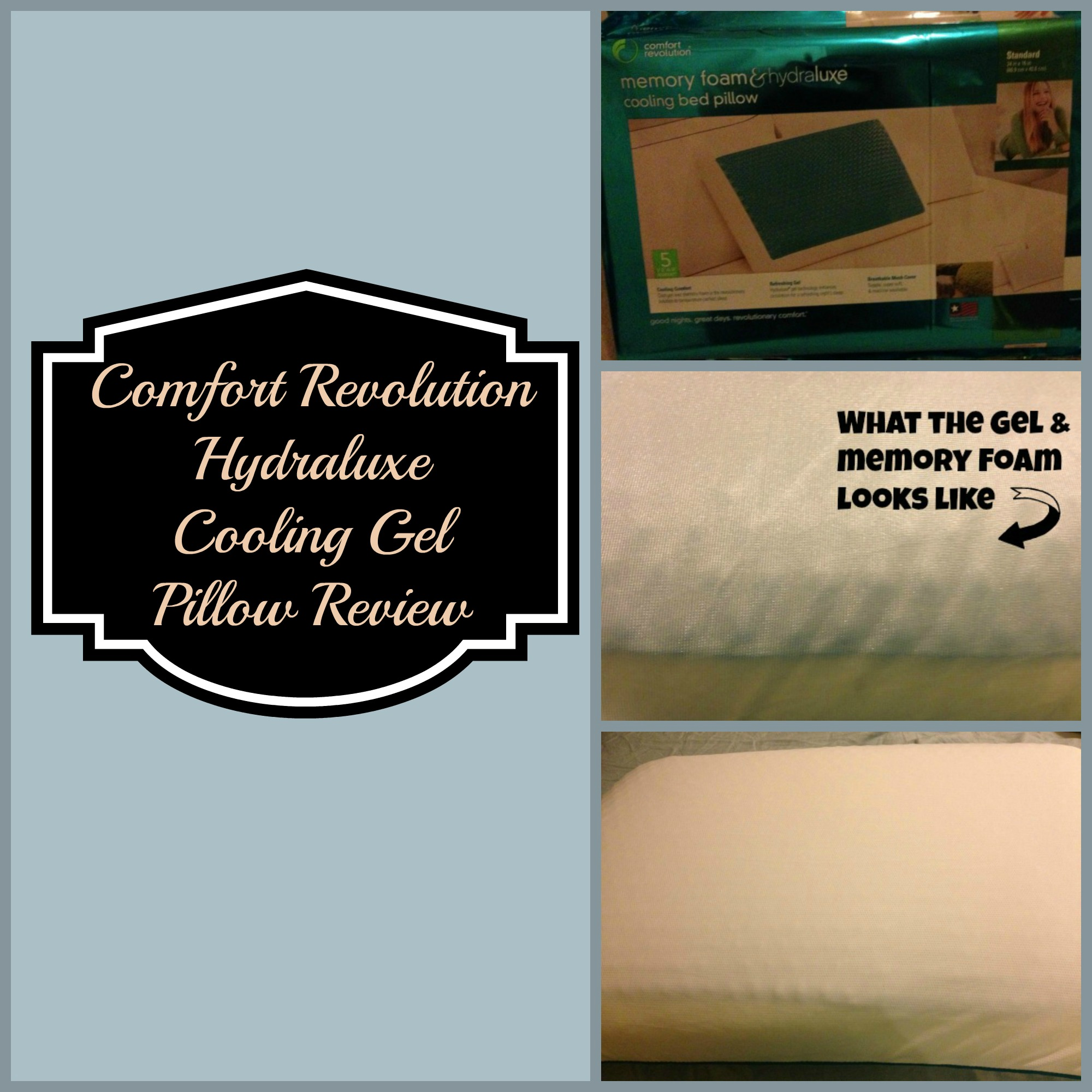 The Perfect Pillow Reviews Comfort Revolution Hydraluxe Cooling Gel Pillow Review