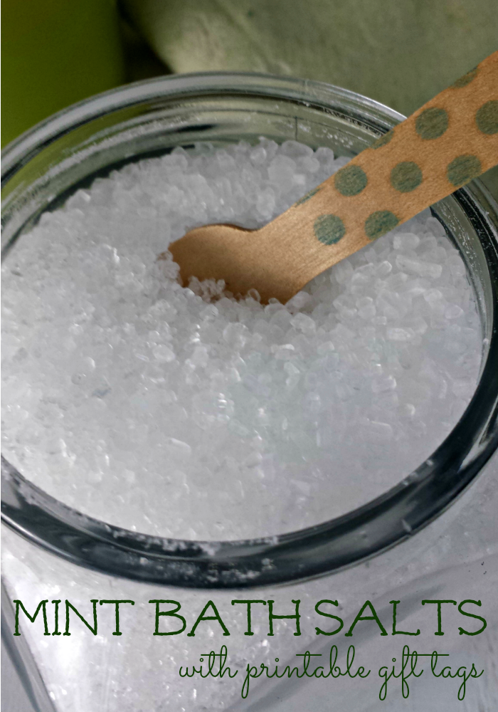 Looking for a fun gift for someone special? Check out our fun project for making your own Mini Bath Salts (printable label included)!