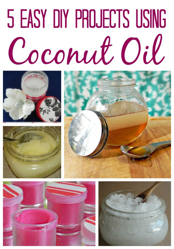 Have you considered using coconut oil to make bath or beauty items? Check out these 5 Easy DIY Projects Using Coconut Oil