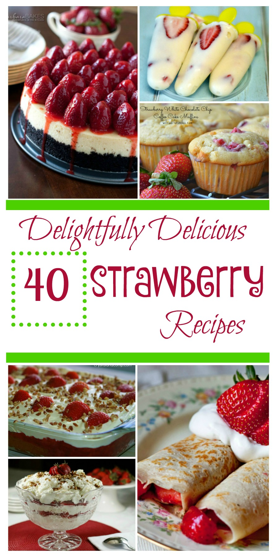 Looking for some new strawberry recipes? Check out our 40 Delightfully Delicious Strawberry Recipes Round Up here!