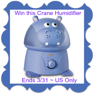 "Violet the Hippo"" Cool Mist Humidifier Giveaway"