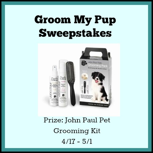 Groom My Pup Sweepstakes