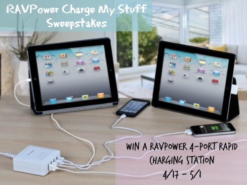RAVPower Charge My Stuff Sweepstakes