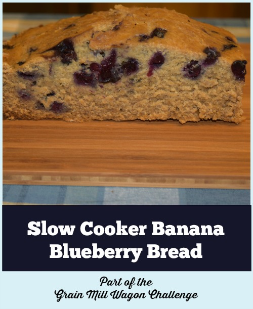 Slow Cooker banana blueberry Bread