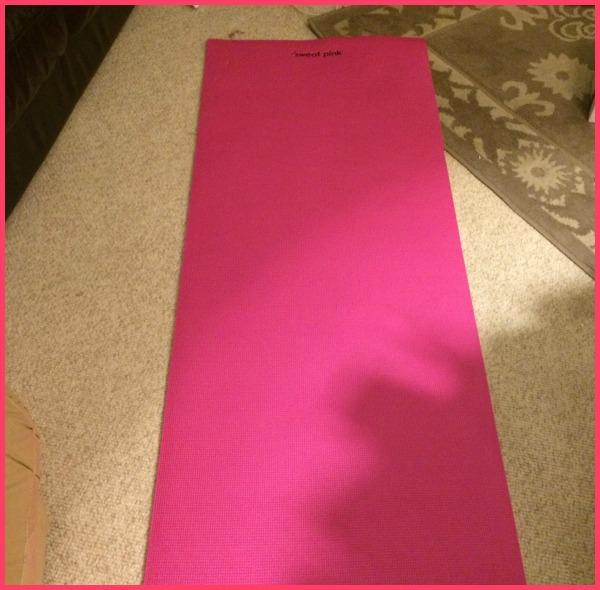 Sweat Pink Yoga Mat 1