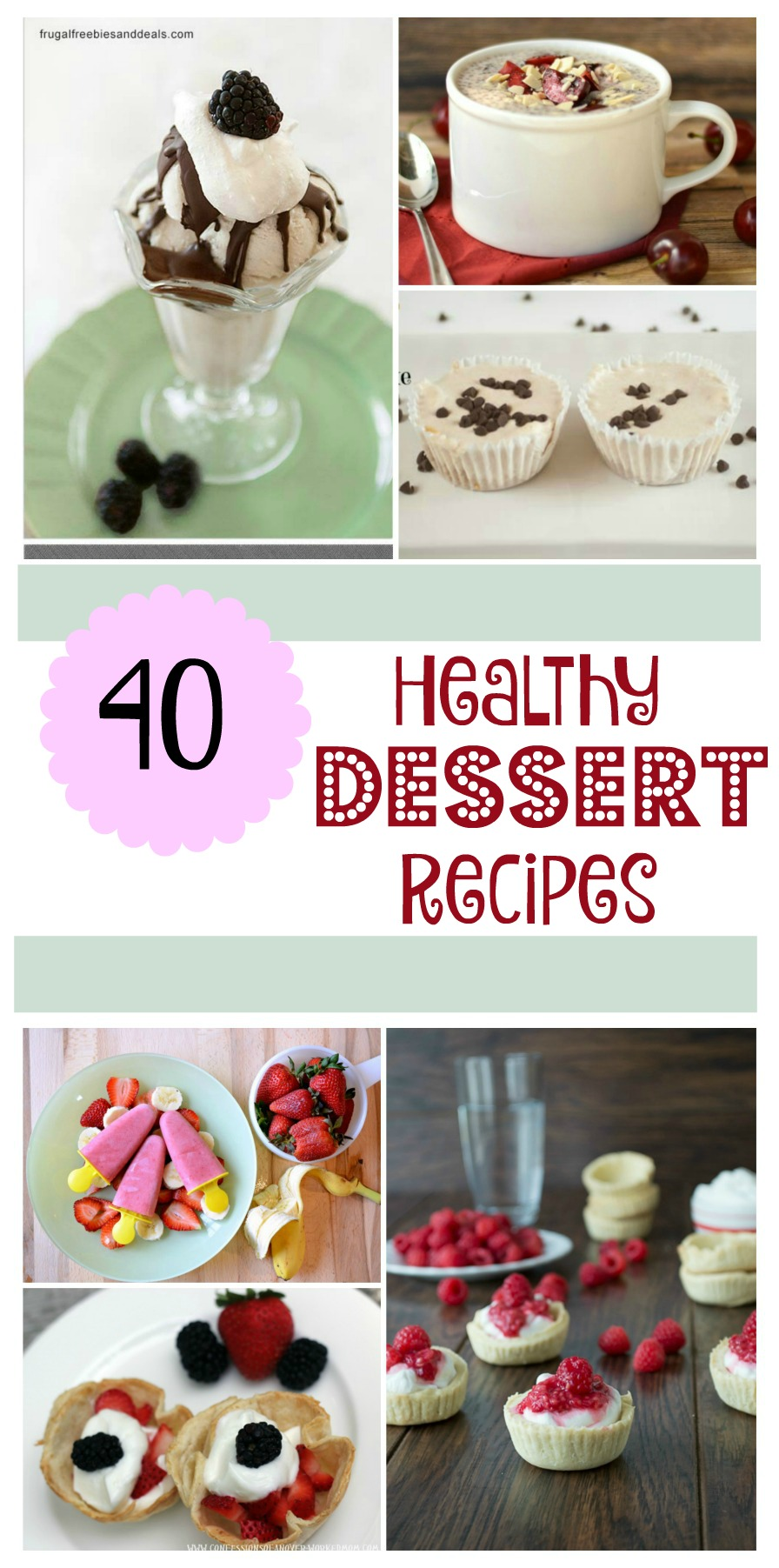 Looking for some amazing recipes? Check out these 40 healthy dessert recipes here!