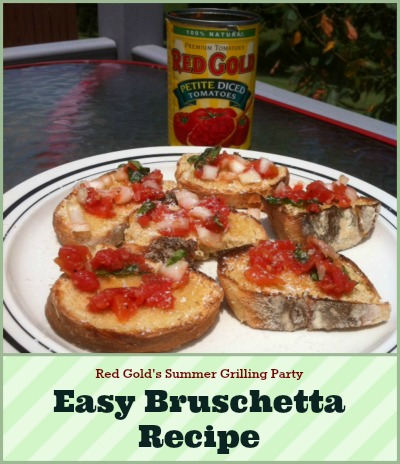 Red Gold's Summer Grilling Party Easy Bruschetta Recipe