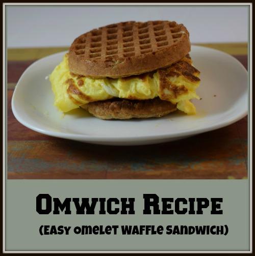 Easy Omelet Waffle Sandwich