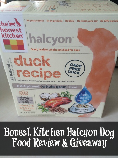Honest Kitchen Halcyon Dog Food Review Giveaway