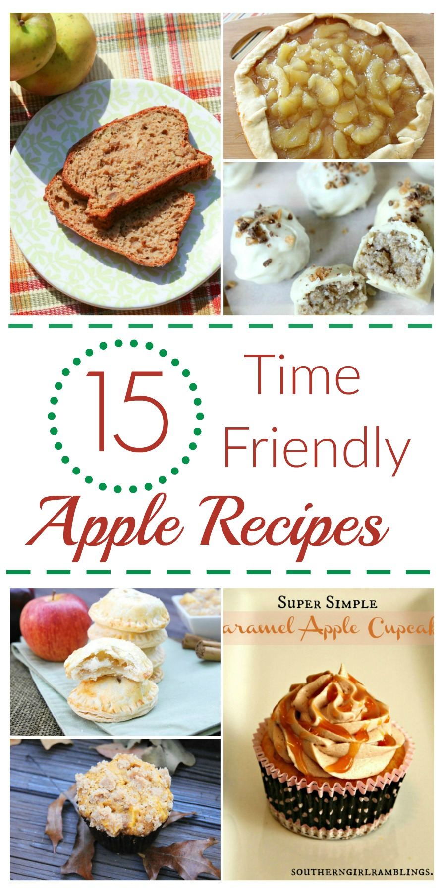 Looking for some delicious apple recipes that don't take forever to make? Check out these 15 Time Friendly Apple Recipes here!