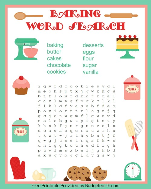 baking word search BE
