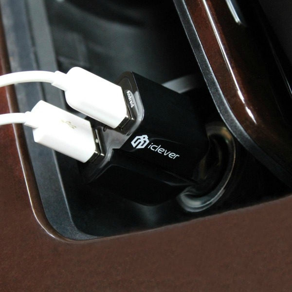 iClever 2 Port USB Car Charger 1