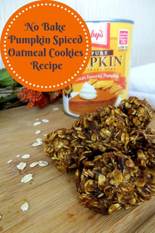 No Bake Pumpkin Spiced Oatmeal Cookies Recipe |