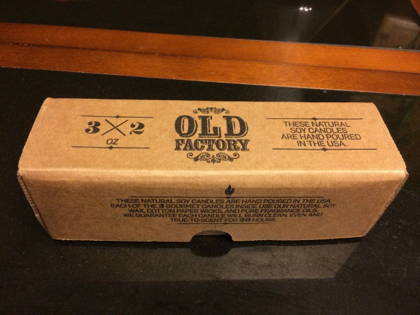 Old Fashion candles Box