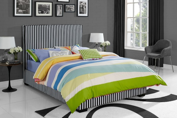 Novogratz_Preppy Upholstered_Full Bed_Black White_Model4007907N_Image3