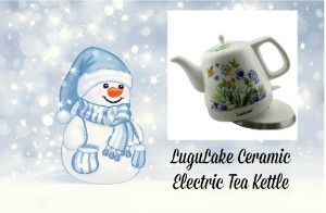 LuguLake Ceramic Electric Tea Kettle