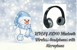 REPLAY AUDIO Bluetooth Wireless Headphones with Microphone
