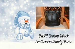 SUSU Crosby Black Leather Crossbody Purse