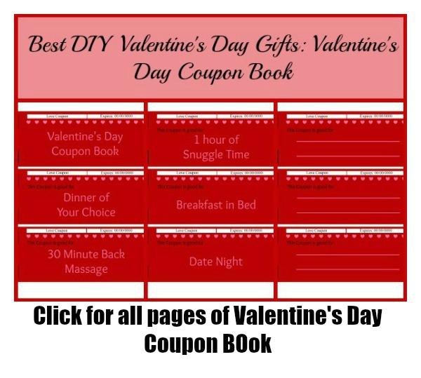 Heart Valetines Day Coupon Book