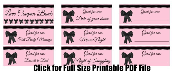 Valentine's Day Printable Bow