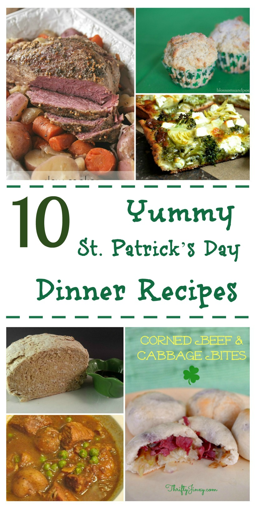 Looking for some delicious dinner ideas for St. Patrick's Day? Check out our 10 Yummy St. Patrick's Day Dinner Recipes Round Up here!