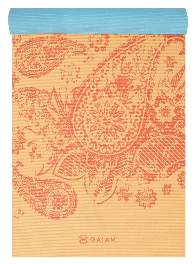 Elephant Reverse Yoga Mat Half Rolled - Orange