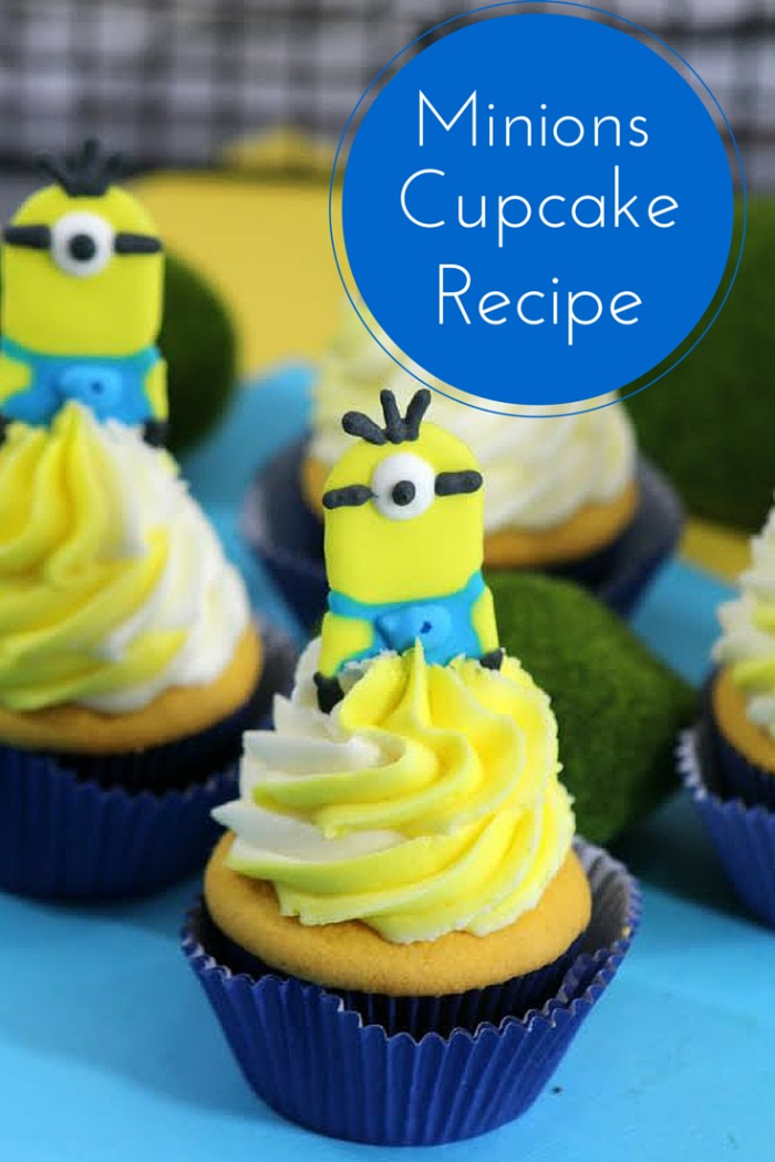 Have someone in your household that loves minions? Check out this adorable Minion Cupcake Recipe, made with homemade banana cupcakes here!