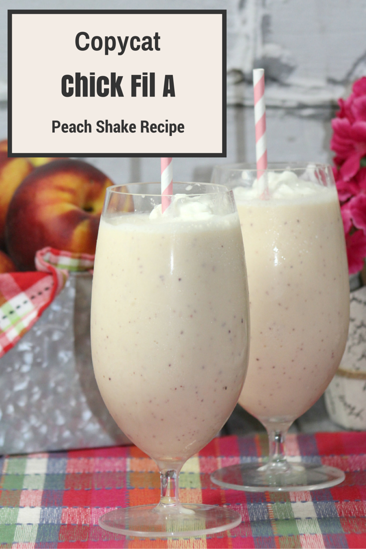 Looking for a delicious peach shake recipe? Check out our super easy to make CopyCat Chilck Fil A Peach Shake Recipe here!