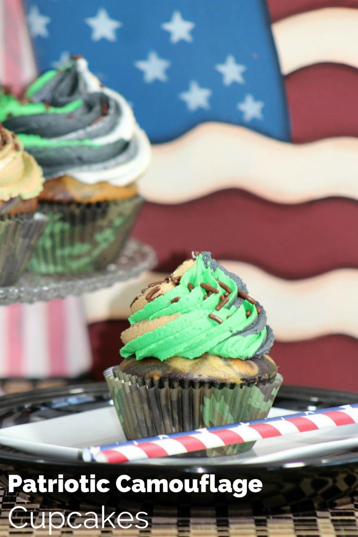 Patriotic Camouflage Cupcake Recipe
