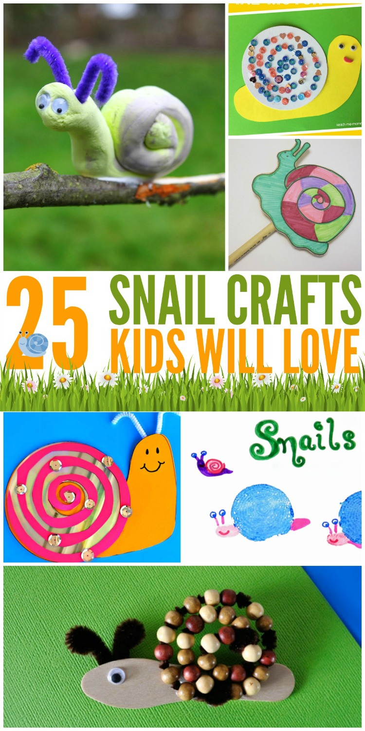 Looking for some adorable crafts that kids will love this summer? Check out these 25 snail crafts for kids & see why we think kids will love them here!