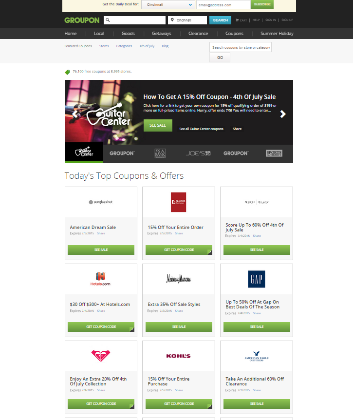 Looking for way to save money shopping at Macy's, KOHLs, & other popular department stores? Learn how you can get exclusive coupons from Groupons Coupons!