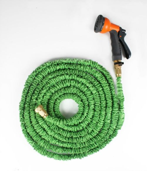 Expandable Garden Hose with Brass Connector & Spray Nozzle 1