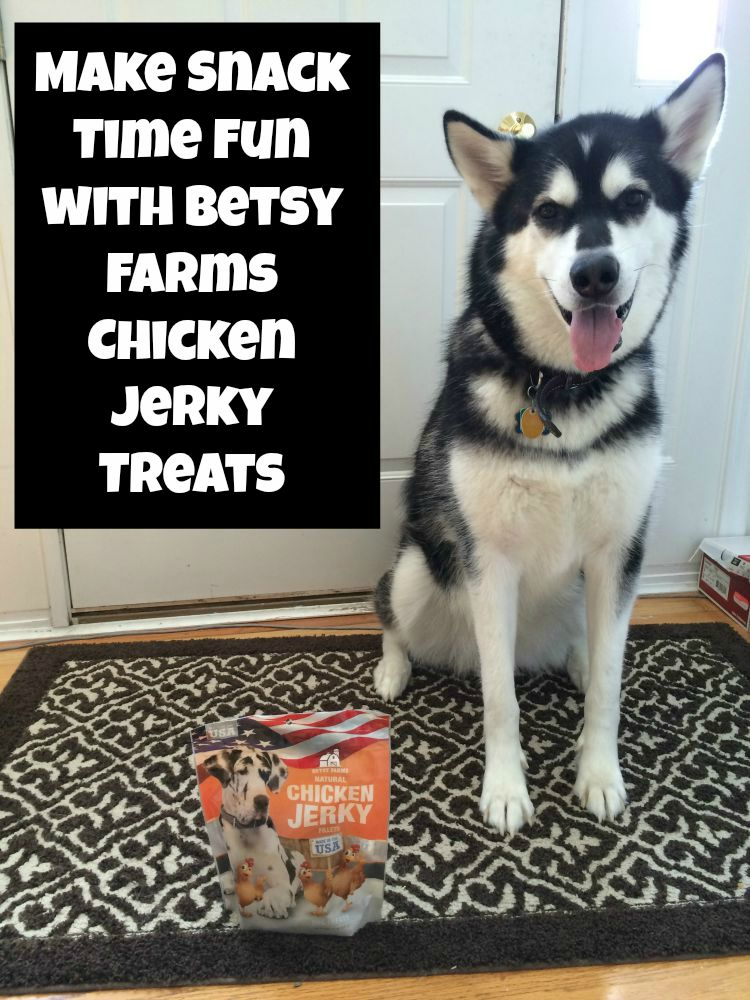 Looking for high quality dog treats? See what we think of Betsy Farms Chicken Jerky Treats here!
