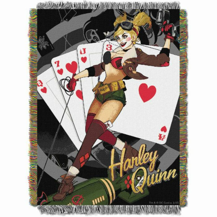 Harley Queen Woven Tapestry Throw