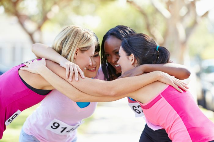 Female Runners Congratulating One Another After Race