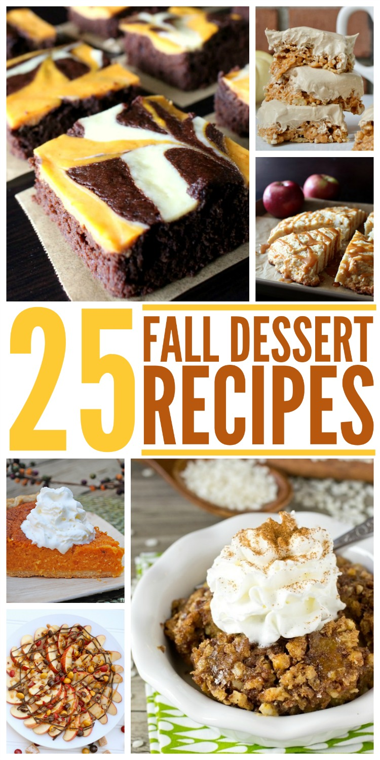 Looking for some delicious fall desserts for your family? Check out our collection of 25 fall desert recipes here!