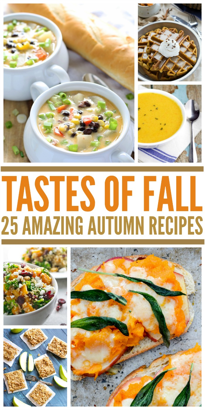 Looking for some delicious recipes that signify the beginning of fall? Check out these 25 recipes featuring the different tastes of fall here!