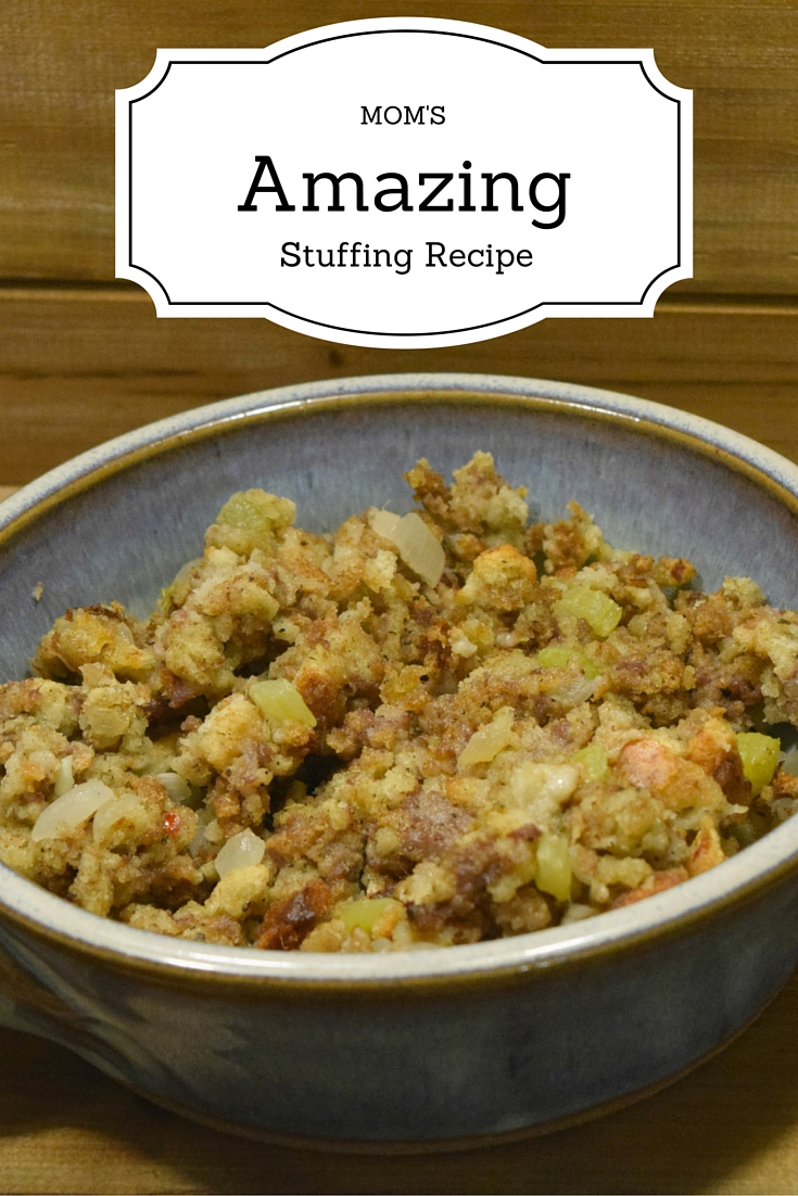 Looking for a delicious, easy to make stuffing recipe for the holiday? Check out this recipe that has become a family tradition - Mom's Amazing Stuffing Recipe!