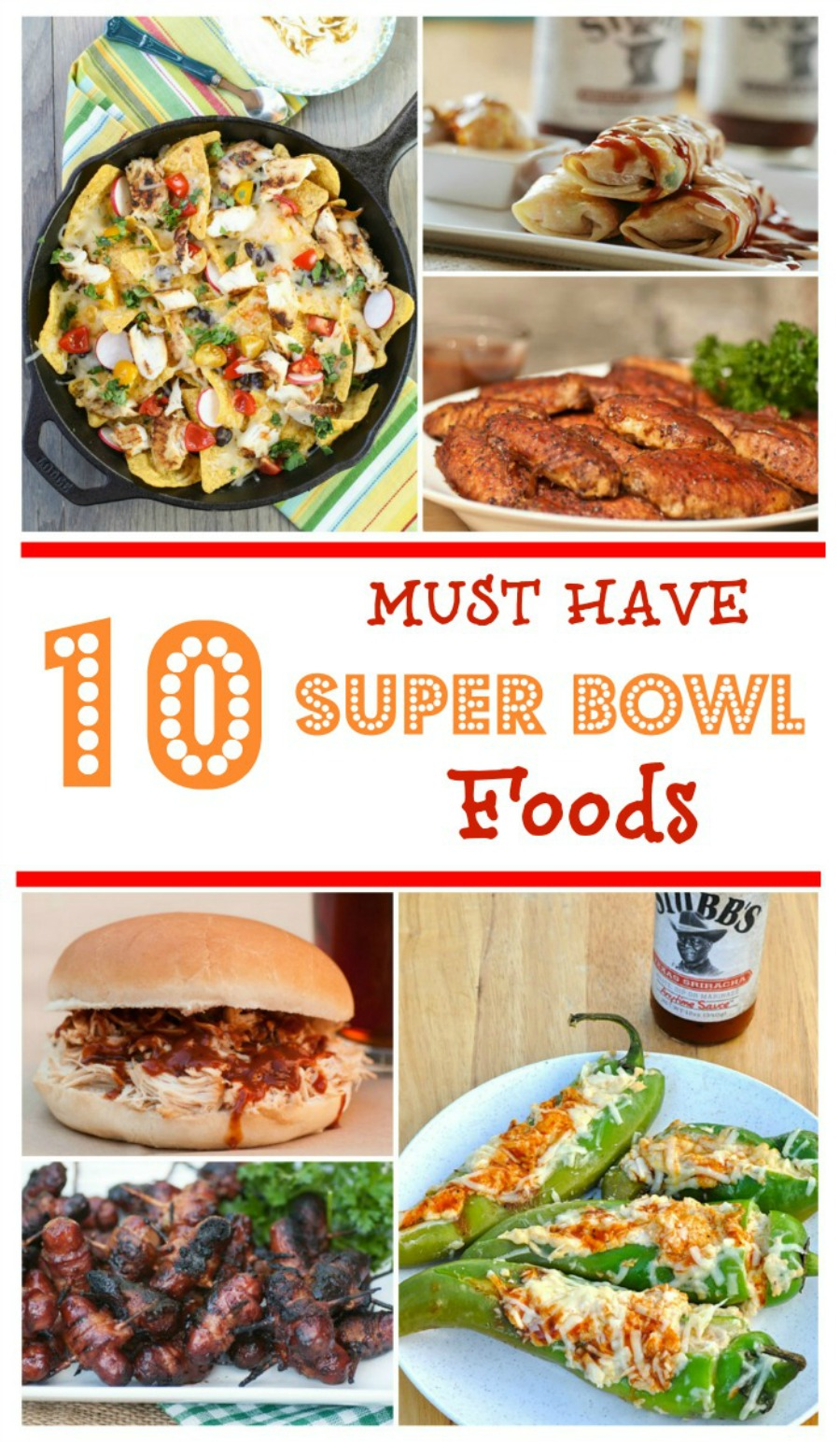 Looking for some delicious food for the big game? Check out these 10 Must Have Super Bowl Party Foods here!
