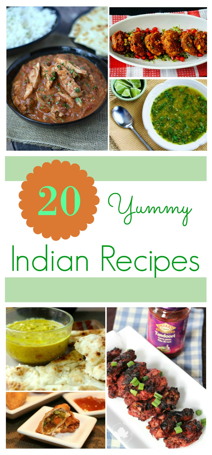 Do you love Indian food? Forget takeout and learn to make Indian at home with these 20 Yummy Indian Recipes here!