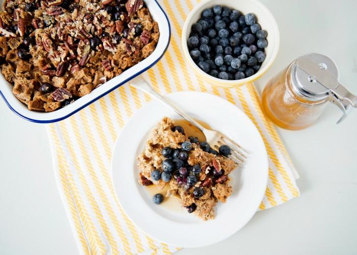 Baked Blueberry Waffle Brunch